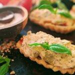 Mini-Tomato Pie Tartlets with Press-In Crust (vegan & plant-based)