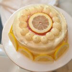 Luscious Lemon Layer Cake with Blood Orange-Lemon Curd and Lemon Cream Cheese Frosting (vegan & plant-based)