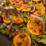 Roasted Orange Salad with Smokey Orange Dressing (vegan & plant-based)