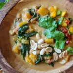 West  African Peanut Stew with Butternut Squash, Chickpeas, & Spinach (vegan & plant-based)