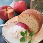 Scrumptious Peach Poundcake with Peach Schnapps (vegan/plant-based)